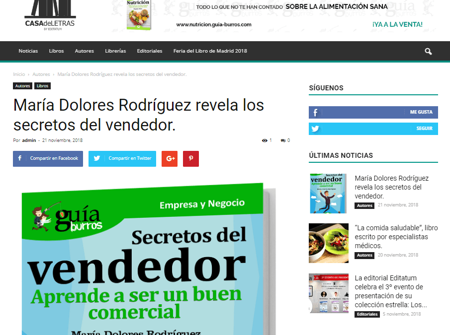 María Dolores Rodríguez y su último trabajo, en Casa de Letras.
